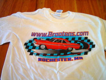 Hot Rod t-shirt with website address